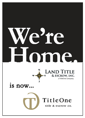 Land Title Escrow is now TitleOne